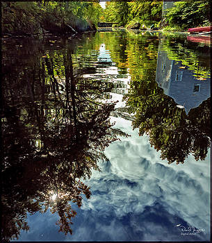 River Reflection, Bristol Mills, Maine, Digital image by Dave Higgins