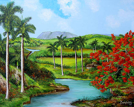 River running through the Valley by Dominica Alcantara