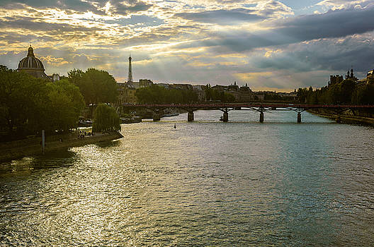 River Seine at Dusk by Paul Warburton