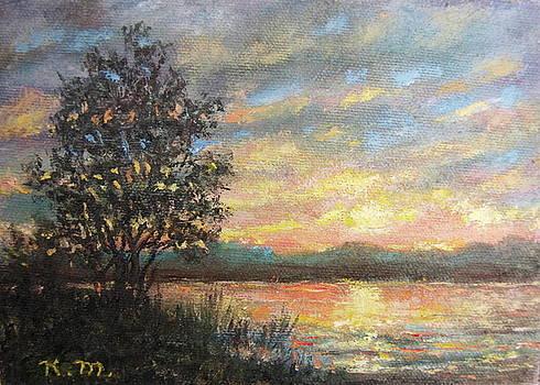 River Sundown by Kathleen McDermott