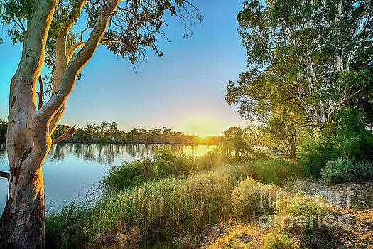 River Sunrise by Ray Warren