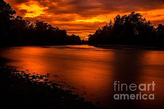 River sunset 2 by Michael Cross