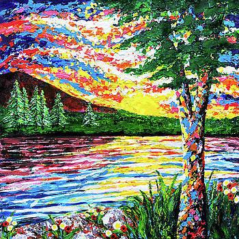River Sunset by Jennifer Allison