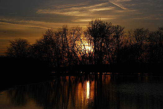 River Sunset by Wanda Jesfield