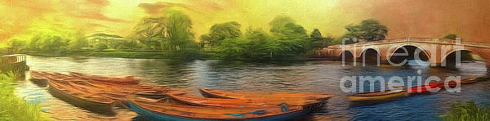 River Thames at Richmond Panorama by Leigh Kemp