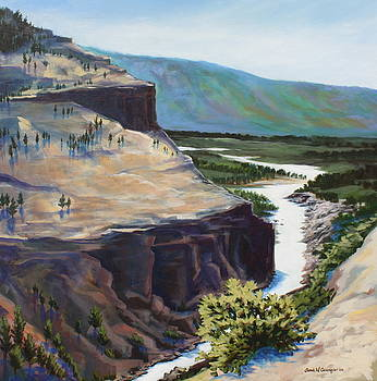 River Through the Canyon by Sarah Grangier