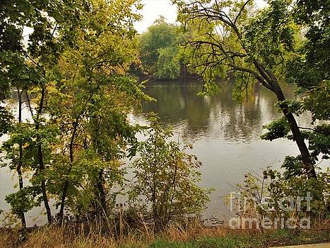 River View From North Bank                Autumn             Indiana by Rory Cubel