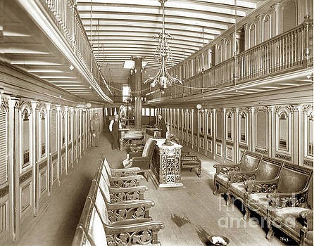 Riverboat Interior positively no gambling  circa 1900 by California Views Mr Pat Hathaway Archives