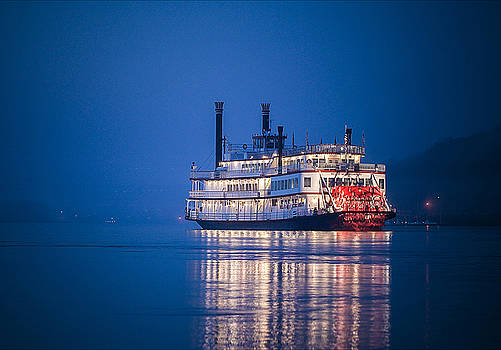 Riverboat on the Ohio by Greg Grupenhof