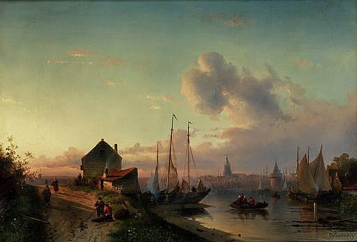 Riverscape by Charles Henri Joseph Leickert