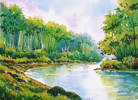 Riverside Bamboos by Sandeep Khedkar