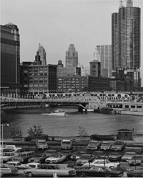 Chicago and North Western Historical Society - Riverside Shot of Chicago Skyline