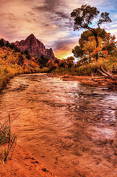 Riverside Sunset by James Marvin Phelps