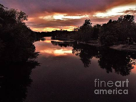 Riverside Twilight       St. Joseph River         Autumn       Indiana by Rory Cubel