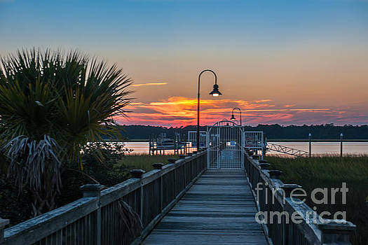 Dale Powell - Rivertowne Dock Sunset