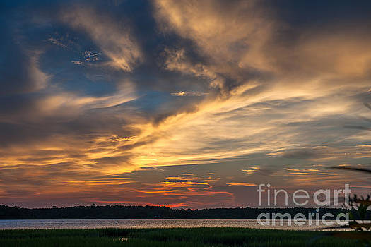 Dale Powell - Rivertowne on the Wando Twilight over the Wando River