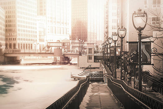 Riverwalk Stroll in Winter by Joel Witmeyer