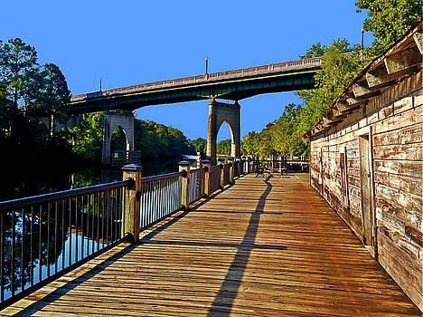 Riverwalk Warehouse Bridge River by Joey OConnor