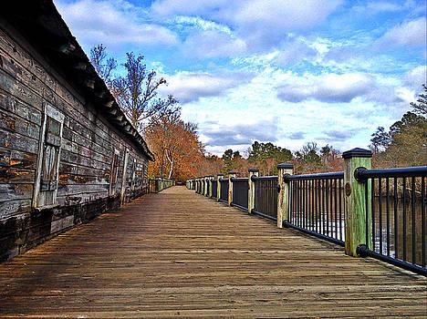 Riverwalk Warehouse Walkway by Joey OConnor