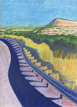 Road above Santa Fe by Harriet Emerson