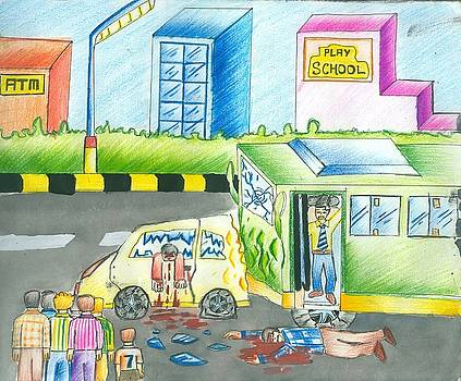Road Accident by Tanmay Singh