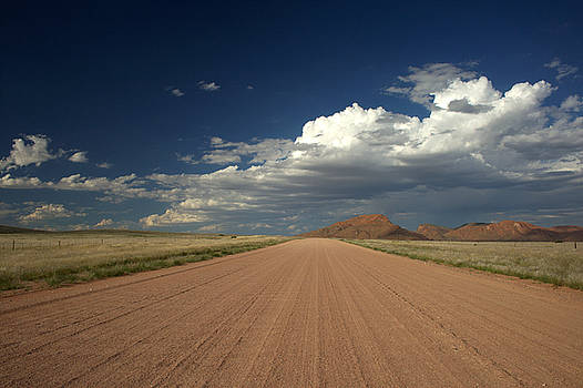 Road across the Namib desert by Michal Cerny