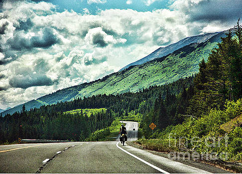 Road Alaska Bicycle  by Chuck Kuhn
