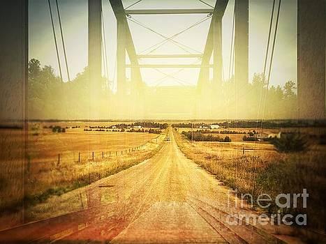 Road and Bridge Double Exposure by Iryna Liveoak