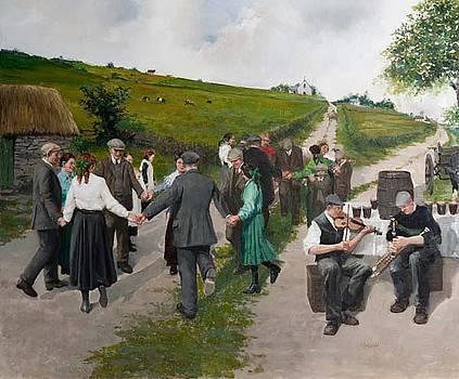 Road Dancing  Saint Patricks Day Ireland by Martin Driscoll