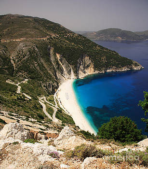 Road down to Myrtos beach by Deborah Benbrook