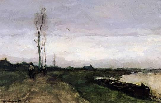 Weissenbruch Johan Hendrik - Road Near The Canal