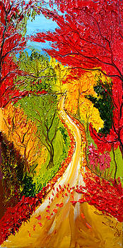 Road To Autumn by Portland Art Creations