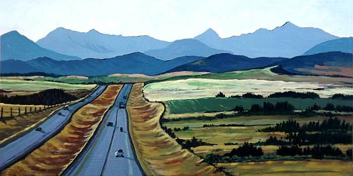 Road to Banff by Diane Ellingham