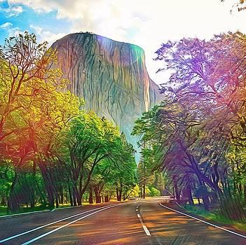 Road to El Capitan by Azat Widken