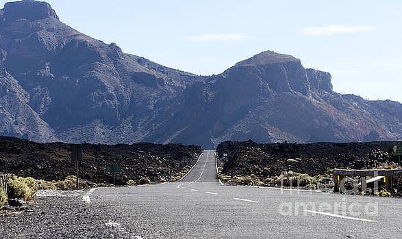 Compuinfoto  - road to el teide vulcano
