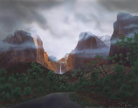 Road to Grandeur ZION by Jerry Bokowski