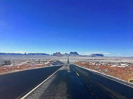 Road to Monument Valley  by Heidi Moss