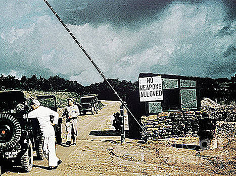 Road to PanMunJom, Korea, Into the DMZ - Demilitarized Zone - April 1953 by Merton Allen