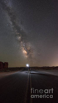 Hitchhike To The Galaxy Panorama by Michael Ver Sprill