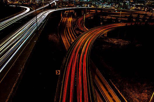 Pelo Blanco Photo - Roads at Night