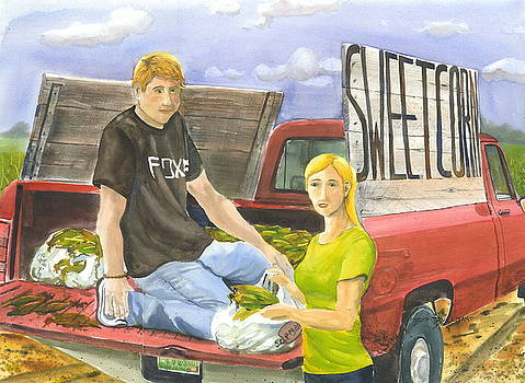 Roadside Sweet Corn by Bud Bullivant