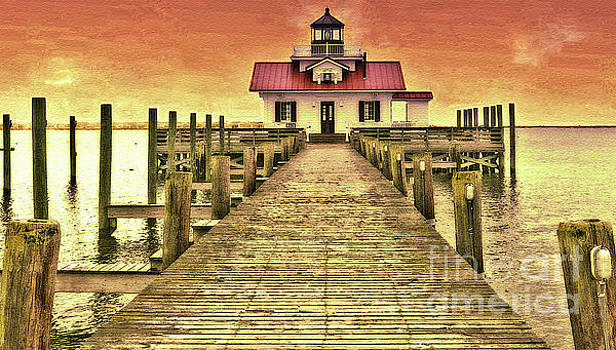 Roanoke Marshes Lighthouse by Lydia Holly