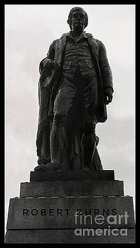 Robert Burns at George Square 2 by Joan-Violet Stretch