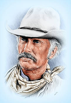 Robert Duvall as Gus McCrae by Andrew Read