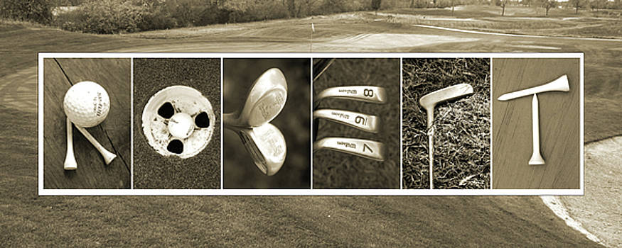 Kathy Stanczak - ROBERT golf Alphabet Art