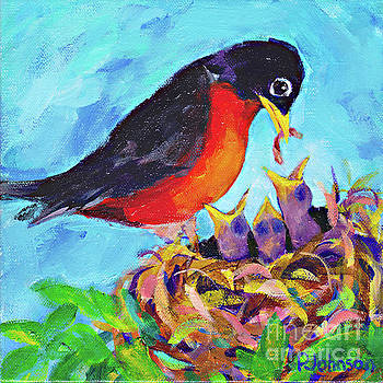 Robin Babies by Peggy Johnson by Peggy Johnson