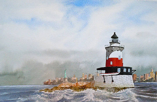 Robin's Reef Lighthouse by Harding Bush