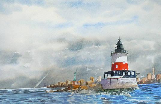 Robin's Reef Lighthouse II by Harding Bush
