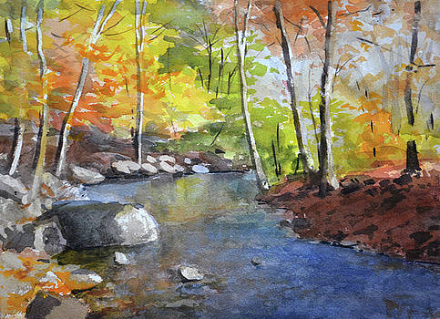 Autumn on the River by Armand Cabrera