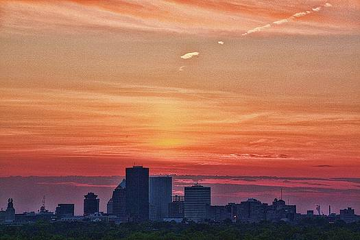 Rochester NY summer solstice from Cobbs Hill by Gerald Salamone